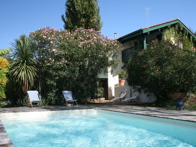 Photo for Comfortable villa with pool, near the sea, in the quiet of the Basque countryside