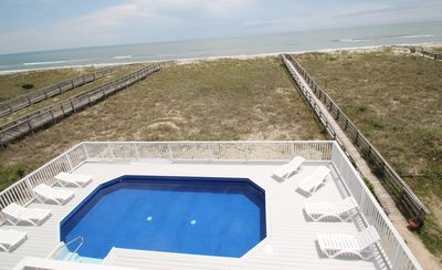 Photo for Sandy Dunes South - Gorgeous Oceanfront, 5 Beds, Elevator, Parking, NEW POOL