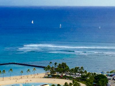 Photo for Beautiful Renovated Sudio in Waikiki W/ Ocean View, Parking, W/D