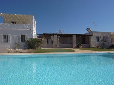 Photo for Villa Naousa, perfect for 2 families, Pool, Sea view