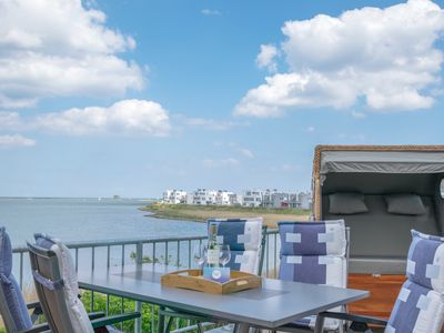 Photo for Spacious duplex apartment next to the loop with clear water views, two terraces, a sauna, whirlpool and fireplace in the Baltic Sea resort Olpenitz on Schlei and the Baltic Sea.