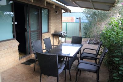 Each chalet has private bbq area