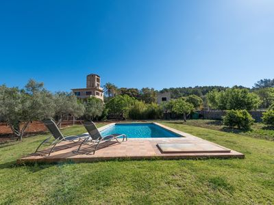 Photo for This 3-bedroom villa for up to 6 guests is located in Selva (Majorca) and has a private swimming poo
