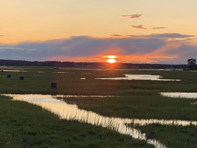 Beautiful Sunset over Salt Marsh