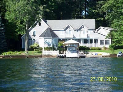 Photo for Luxury Waterfront Home Right on Lake Winnipesaukee