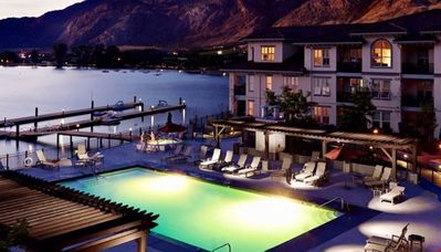 Photo for Private Balcony + Lake Views | Hot Tub + Outdoor Pool + Beachfront