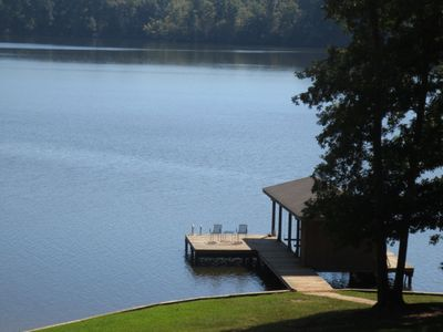 The peaceful waters of Lake Sinclair invite you with this view from the deck.