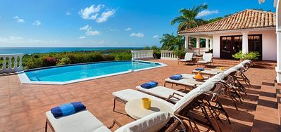 Villa Mer Soleil  -  Ocean View - Located in  Tropical Terres Basses with Private Pool