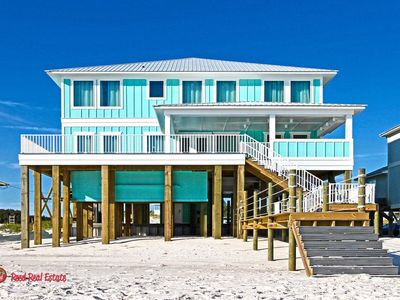 Photo for Let the Good Tides Roll-Luxury, Gulf Front 8br/8 & 2 half ba with pool. Sleeps 26