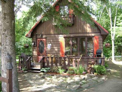 Photo for Superb chalet located directly in the village of St-Sauveur