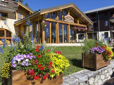 Photo for At the foot of Valmorel slopes with a beautiful view and return a skier parking