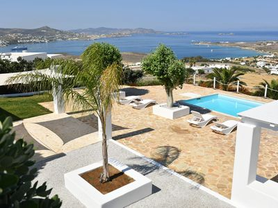 Photo for Luxury Paros Villa | Sea View Villa | Private Pool | Stunning Interior | 3 BDR | Parikia