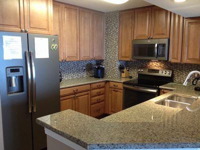 Complete kitchen renovation in 2014 - new cabinets, countertops, and appliances!