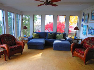 Family room with water view
