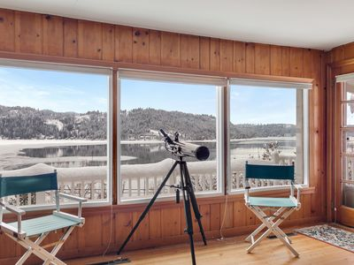 Photo for Enjoy panoramic lake views at this charming, two-story, dog-friendly home