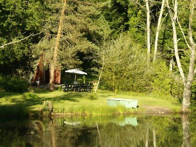Photo for SARLAT 8km, Chalet with Pool and Private Fishing Pond.