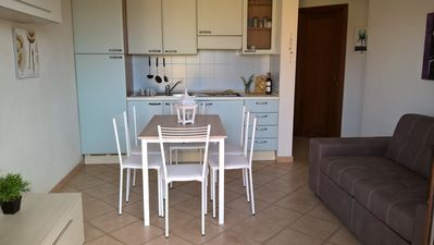 Photo for Beautiful apartment in Residence with sea view only 350 meters from the sea