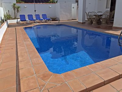Photo for VILLA RIELLS MAR FOR 8 WITH PRIVATE POOL FREE WIFI ONLY 350m FROM BEACH