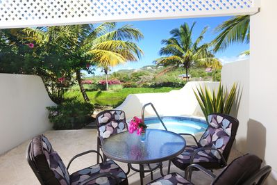 Patio and Plunge Pool on an Idyllic Afternoon