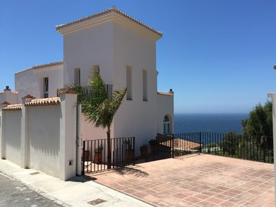 Photo for Villa Torrecilla with fantastic sea views, private pool, air conditioning, WiFi