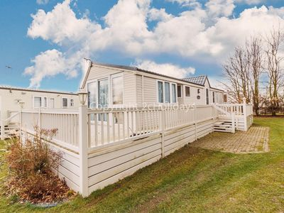 Photo for Dog friendly caravan for hire at Cherry tree holiday park in Norfolk ref 70847