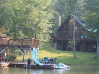 Photo for Beautiful lakefront home on Lake Nottely tucked away in the Blue Ridge Mountains