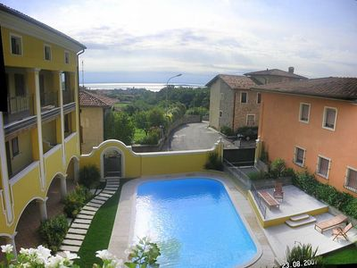 Photo for Stunning apartment with amazing views of Lake Garda
