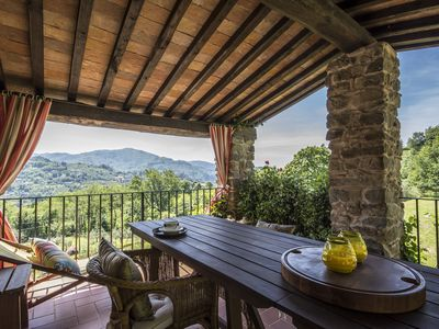 Photo for Medieval Tuscan farmhouse with wonderful views