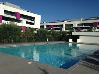 Photo for T2 Ground floor - Recent - Beautiful pool - Beach 200m