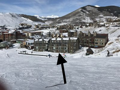 Complete ski in/out yet walk to mountain town.
