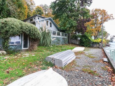 Photo for NEW LISTING! Bayfront home on Puget Sound w/ beach, dock & firepit - 2 dogs OK!