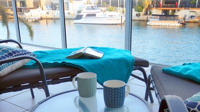 Photo for Mandurah Canal Holiday Home with own jetty! Boats! Crabs! Dolphins!