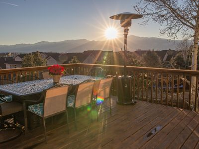 Photo for Views, Views Views!! Complete w/ hot tub. Pikes Peak in your backyard!