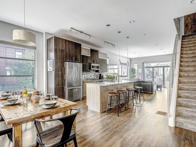 Photo for Polished Modern Condo with Rooftop Walk Everywhere