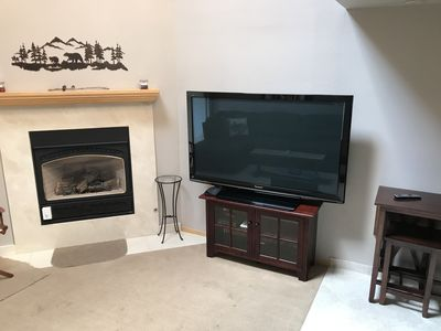 "65"" TV with Gas Fireplace"