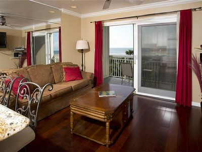 Photo for 215 Breakers | Direct Oceanfront View | Heated Complex Pool | Walk to Dining & Shopping @ Coligny!