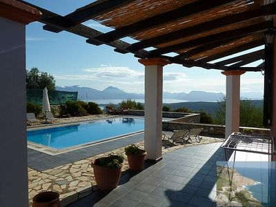 Photo for Sunrise House. Lefkada Villa - exceptional sea views - pool - air conditioning