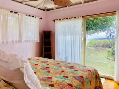 Wake up to calming waves from the oceanfront/master bedroom.