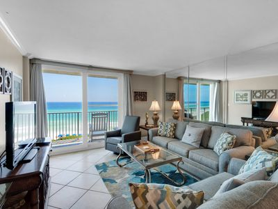 Photo for Beautiful 4th Floor Condo! Gulf Front, Pool Onsite, Beach Access, Nearby Shopping & Dining!