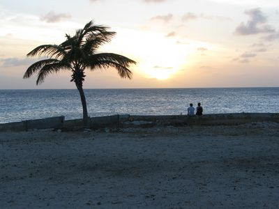 Walk down to the beach and watch the sunset.  Look for the green flash!