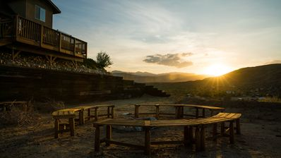 Photo for Pioneertown Cabin, walk to Pappy & Harriets
