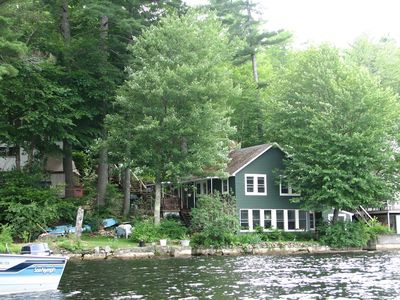 Photo for Cottage with Private Dock on Pristine Great East Lake.