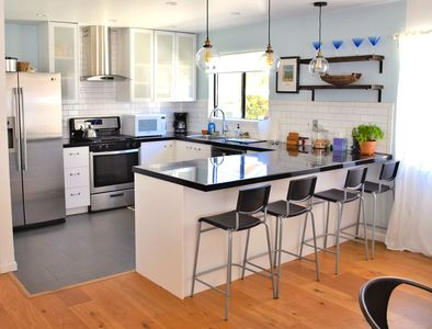 Recently renovated kitchen is light and bright.  Room for 3-4 cooks at a time.