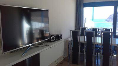 """Living room with 50"""" Smart TV"""