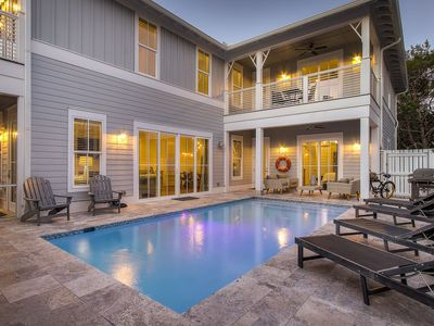 Photo for Large Seagrove Beach House, Private Heated Pool, Chef's Kitchen, 3 Master Suites