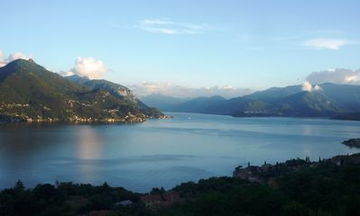 Lake view, Bellaggio and Varenna in the distance