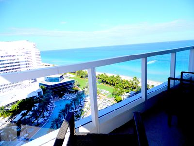 Photo for Ocean View Luxury Studio at  Sorrento in Fontainebleau Hotel in Miami Beach