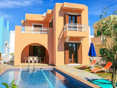 Photo for Villa Kassos: Large Private Pool, Walk to Beach, A/C, WiFi, Car Not Required