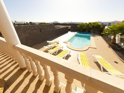 Photo for Beautiful Large Villa, Private Pool, Sea Views, 5 mins from beach **Kids Free**