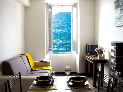 Photo for Cozy Lake View apartment in Blevio with WiFi.